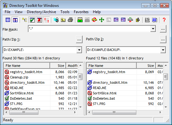 Directory Tookit Screen Shot