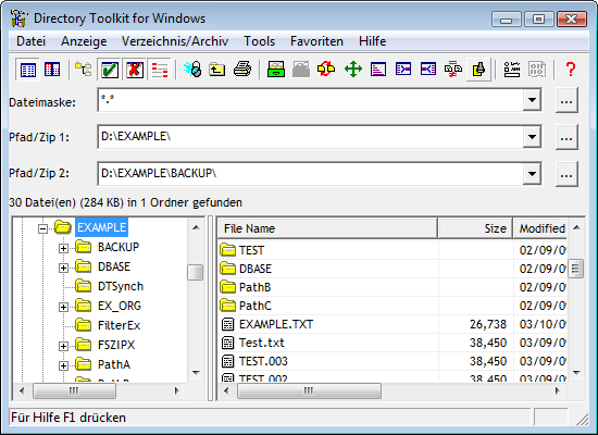 Directory Toolkit für Windows