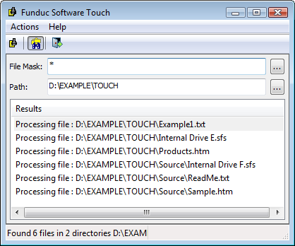 Funduc Software Touch Utility - A free program to change file time, date, and attributes on Windows Vista, Windows 7, Windows 8, & Windows 10.